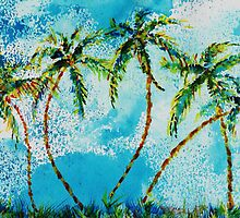 Dancing Palm Trees by Robin Monroe
