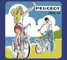 Vintage Peugeot PNSL 40 Bicycle Decal by kustom