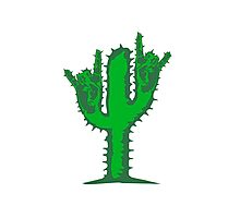 hard rock heavy metal hand gesture horns satan devil evil hands music party celebrate funny cactus Photographic Print