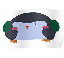 Wide Penguin Poster