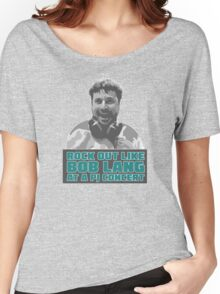 Rock Out Like Bob Lang at a PJ Concert - Version 3.0 (Nufuzion T-Shirt Design) Women's Relaxed Fit T-Shirt