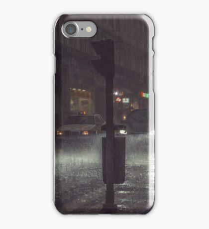 A Rainy Night In Lisbon. iPhone Case/Skin