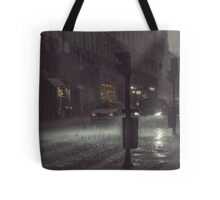 A Rainy Night In Lisbon. Tote Bag