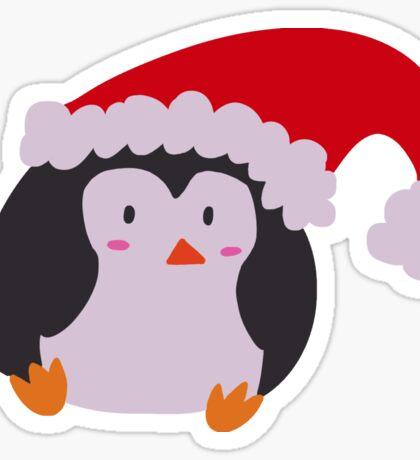 Christmas Hat Penguin Sticker