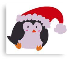 Christmas Hat Penguin Canvas Print