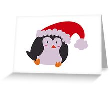 Christmas Hat Penguin Greeting Card