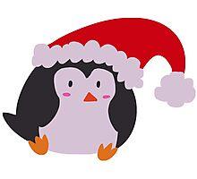 Christmas Hat Penguin Photographic Print