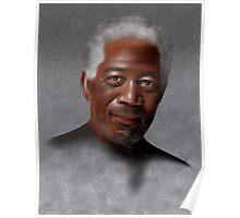 Freemonteir V1 - Morgan Freeman portrait Poster