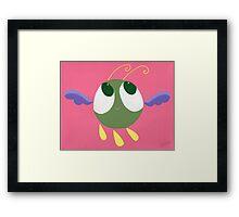 Flying Pea Framed Print