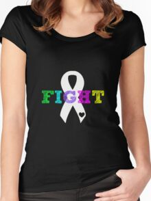 Fight Ribbon Women's Fitted Scoop T-Shirt