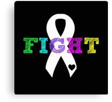 Fight Ribbon Canvas Print