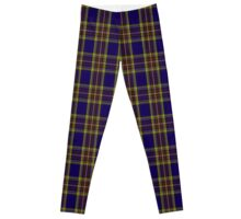 00432 Anthony Plaid Blue Tartan  Leggings