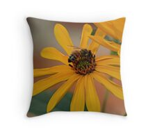 Honey Bee Collecting Nectar Throw Pillow