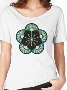Geometric Heliconia Fan Pattern Women's Relaxed Fit T-Shirt