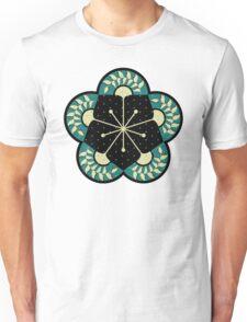 Geometric Heliconia Fan Pattern Unisex T-Shirt