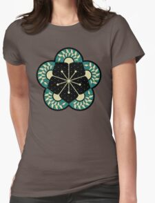 Geometric Heliconia Fan Pattern Womens Fitted T-Shirt