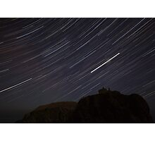dunottar castle star trails Photographic Print