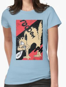 Scared Kitty Womens Fitted T-Shirt