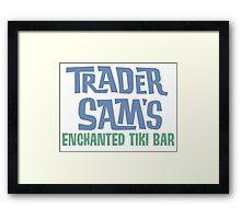 Tiki Bar Logo Framed Print