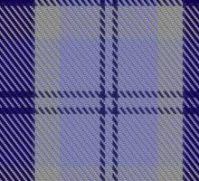 00444 Bannockbane Blue #2 Tartan  Sticker