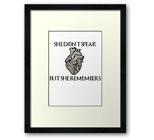 Lady Stoneheart, Game of Thrones Framed Print