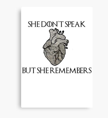 Lady Stoneheart, Game of Thrones Canvas Print
