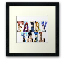 FairyTail Font Characters,Anime Framed Print