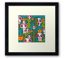 Skulls, Cacti and Atomic Coffee Framed Print