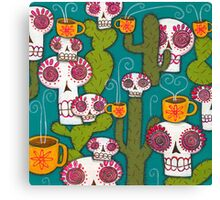 Skulls, Cacti and Atomic Coffee Canvas Print