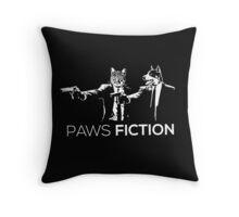 Paws Fiction Throw Pillow