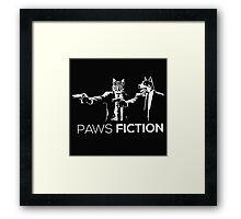Paws Fiction Framed Print