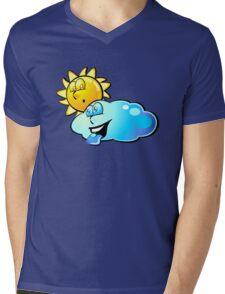Sun and cloud - Funny cartoons Mens V-Neck T-Shirt