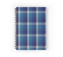 00447 Bannockbane Light Blue Tartan  Spiral Notebook