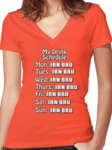 Irn drink schedule  Women's Fitted V-Neck T-Shirt
