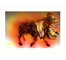 Born of Fire variant 1 Art Print