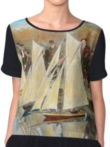 Boat - Sorry kids this ones mine 1910 Chiffon Top