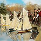 Boat - Sorry kids this ones mine 1910 by Mike  Savad