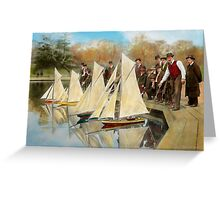 Boat - Sorry kids this ones mine 1910 Greeting Card
