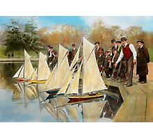 Boat - Sorry kids this ones mine 1910 Photographic Print