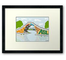 ASL Bridge - ASL Foundation Framed Print