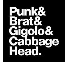 Punk Brat Cabbage Head - Prince Parade Quote Photographic Print