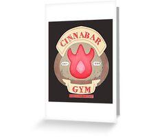 Pokemon - Cinnabar City Gym 'Feel the Burn' Greeting Card