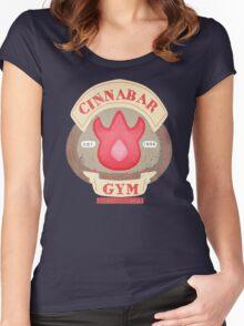 Pokemon - Cinnabar City Gym 'Feel the Burn' Women's Fitted Scoop T-Shirt