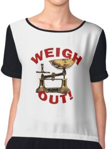 Weigh Out Of Sight Chiffon Top