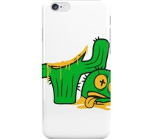 face funny horror halloween bloody murder from head decapitated blood evil cactus comic cartoon iPhone Case/Skin