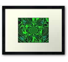 Psychedelic Green Gateway Framed Print