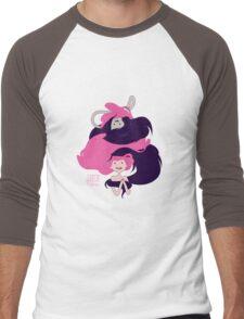 Marceline and Princess Bubblegum Hug Men's Baseball ¾ T-Shirt