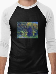 'Allee in the Park' by Vincent Van Gogh (Reproduction) Men's Baseball ¾ T-Shirt