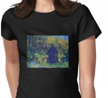 'Allee in the Park' by Vincent Van Gogh (Reproduction) Womens Fitted T-Shirt