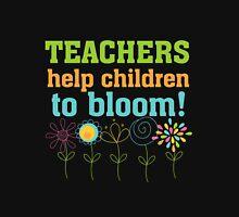 Flowers Teachers Help Children to Bloom Womens Fitted T-Shirt